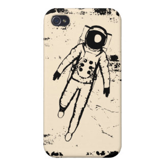Retro Moon Walking iPhone 4 Case