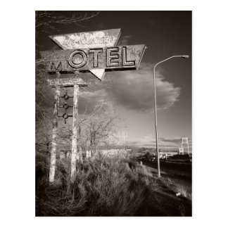 Retro Motel Postcard