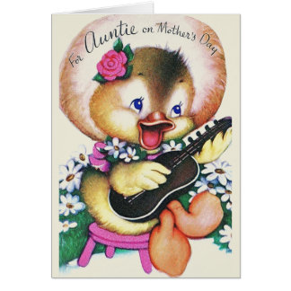 Retro Mother's Day Greeting Card For Auntie