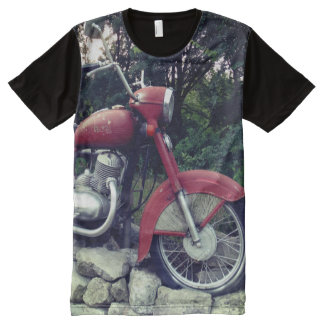 Retro Motorbike Man All Over Printed Shirt All-Over Print T-Shirt