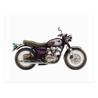 Retro Motorcycle Postcard
