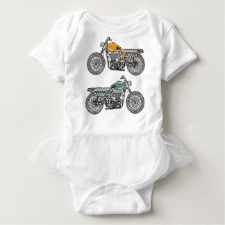 Retro Motorcycle Vector Sketch Baby Bodysuit