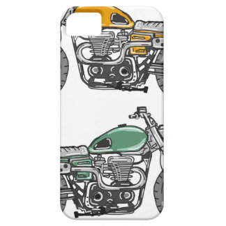 Retro Motorcycle Vector Sketch Case For The iPhone 5