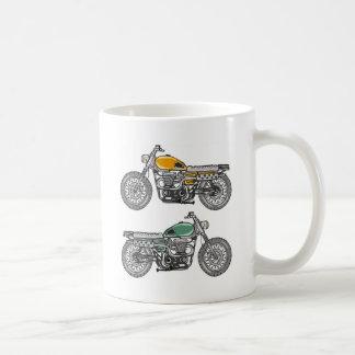 Retro Motorcycle Vector Sketch Coffee Mug