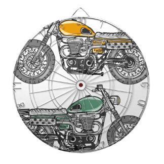 Retro Motorcycle Vector Sketch Dartboard