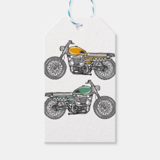 Retro Motorcycle Vector Sketch Gift Tags