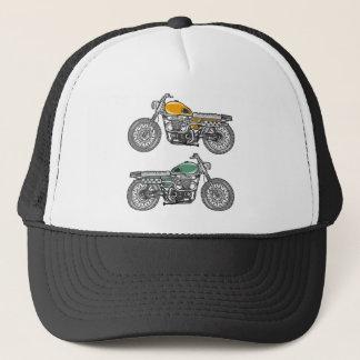 Retro Motorcycle Vector Sketch Trucker Hat