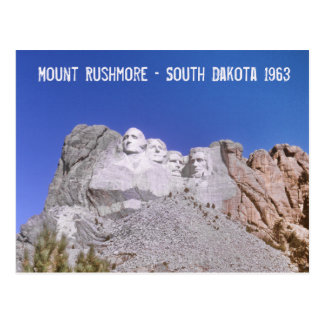 Retro Mount Rushmore - South Dakota 1963 Postcard