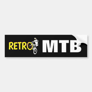 Retro Mountain bike Bumper Sticker