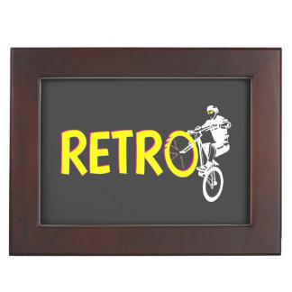 Retro mountain bike rider keepsake boxes