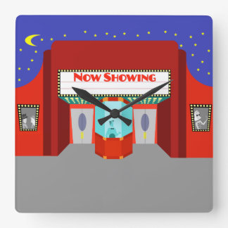 Retro Movie Theater Acrylic Wall Clock