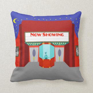 Retro Movie Theater Throw Pillow
