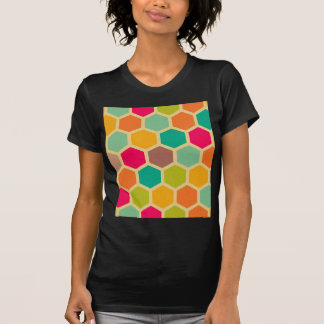 Retro multi color chevron zig zag  vintage trendy t shirt