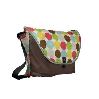 Retro Multi-color Polkadots Rickshaw Messenger Bag