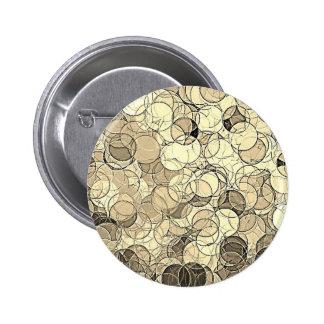 Retro Multi Colored Circles Pattern Pinback Button
