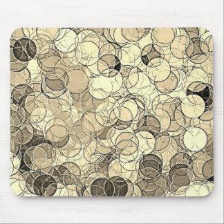 Retro Multi Colored Circles Pattern Mouse Pad