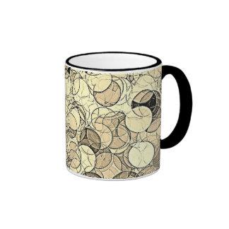 Retro Multi Colored Circles Pattern Coffee Mug