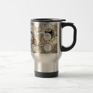 Retro Multi Colored Circles Pattern Coffee Mugs