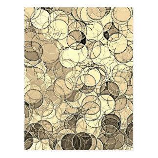 Retro Multi Colored Circles Pattern Post Card