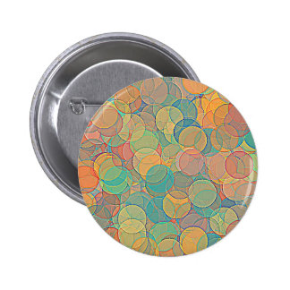Retro MultiColored Abstract Circles Pattern Pins