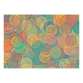 Retro MultiColored Abstract Circles Pattern Business Card Template