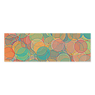 Retro MultiColored Abstract Circles Pattern Business Card Templates
