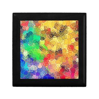 Retro Multicolored Circles Pattern Trinket Boxes