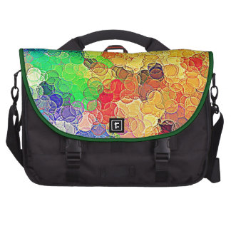 Retro Multicolored Circles Pattern Laptop Bags