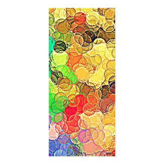 Retro Multicolored Circles Pattern Rack Card Template