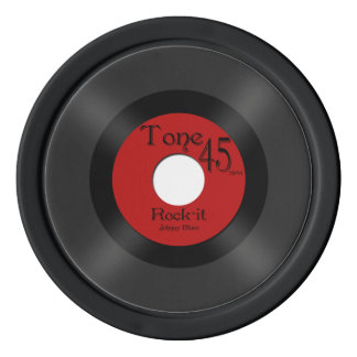 Retro Music 45 Record Poker Chips