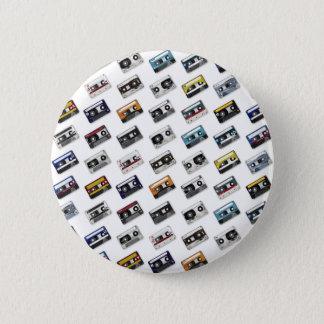 Retro Music Cassette Tapes 6 Cm Round Badge