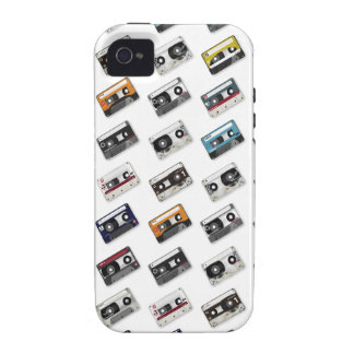 Retro Music Cassette Tapes Vibe iPhone 4 Cases