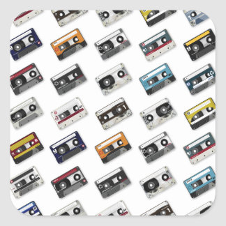 Retro Music Cassette Tapes Sticker