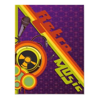 retro music funky vector art custom invites