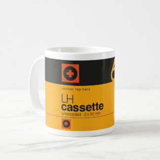 Retro music lover cassette graphic coffee mug