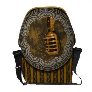 Retro Music Messenger Bag