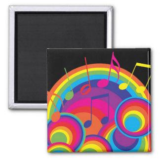Retro Music Square Magnet