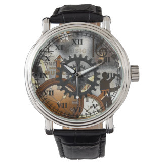 Retro Music Time Wrist Watch