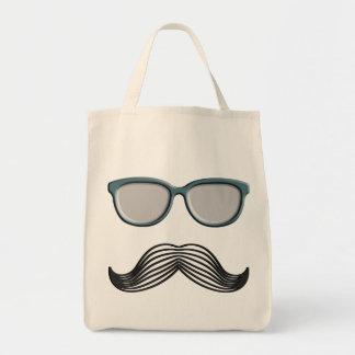 Retro Mustache Moustache Stache Tote Bag