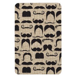 Retro Mustache Moustache Stache Pattern Rectangle Magnets