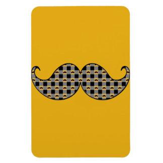 Retro Mustache Moustache Stache Rectangle Magnet