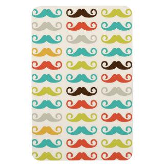 Retro Mustache Pattern Rectangular Magnet