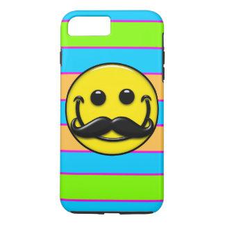Retro Mustache Smiley Stripes iPhone 7 Plus Case