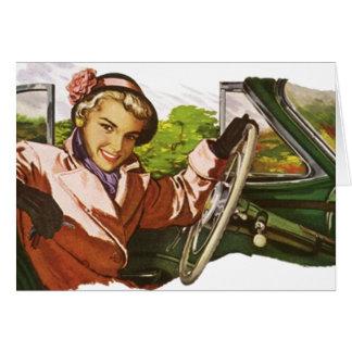 Retro My Way or the Highway Idiom Vintage Fashion Card