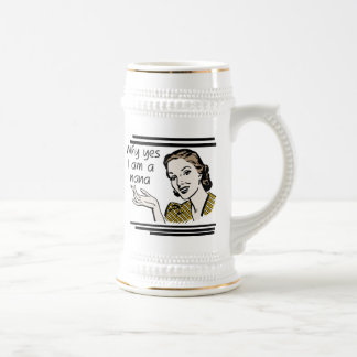 Retro Nana T-shirts and Gifts Beer Stein