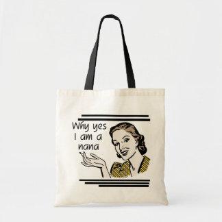 Retro Nana T-shirts and Gifts Budget Tote Bag