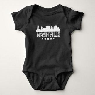 Retro Nashville Skyline Baby Bodysuit