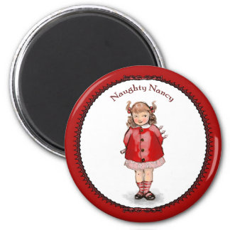 Retro Naughty Nancy Magnet