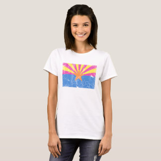 Retro Neon Arizona Flag T-Shirt
