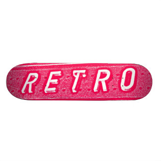 Retro - Neon Red and White Skate Boards